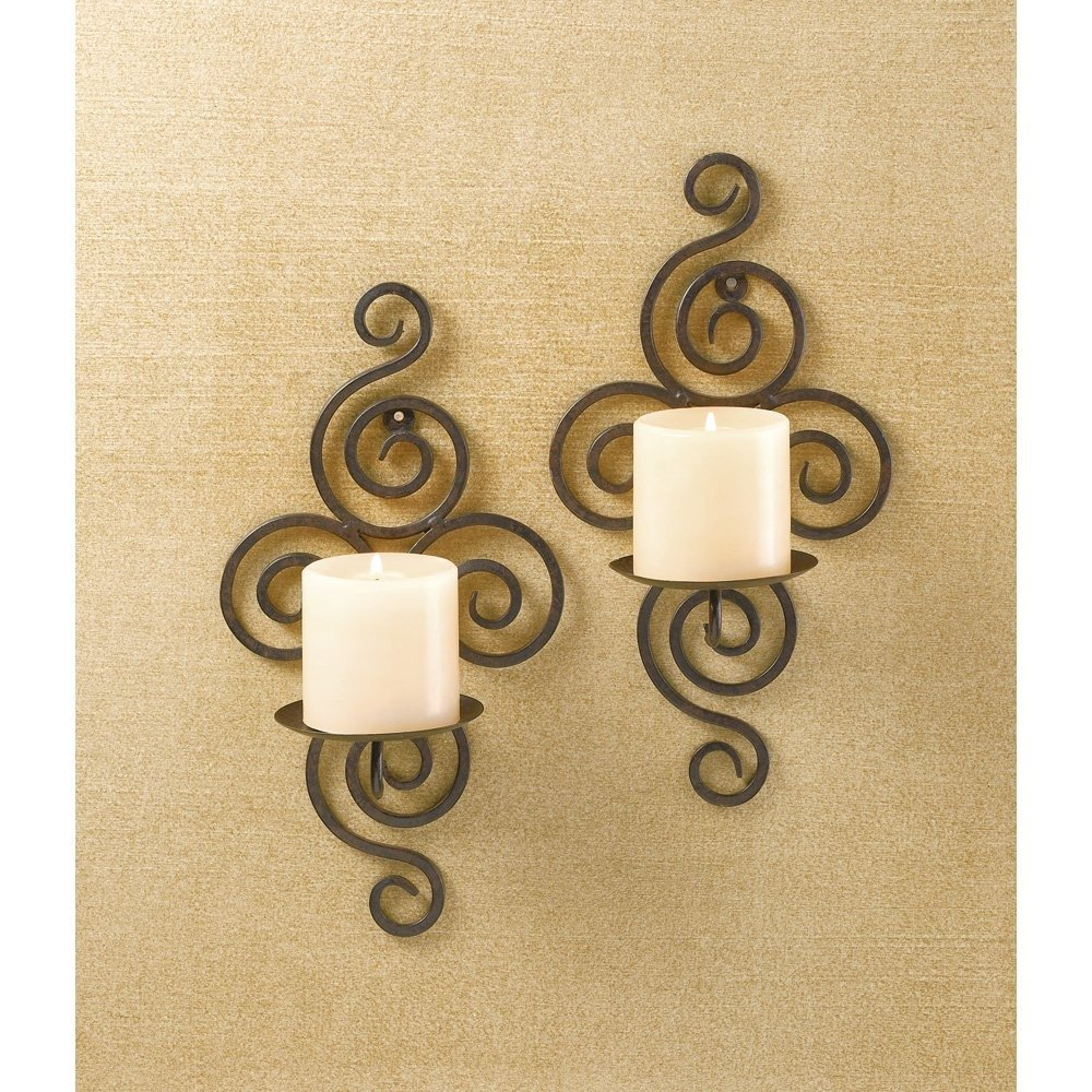 Amazon.com: Wall Sconce Candle, Bathroom Modern Metal Candle Sconces ...
