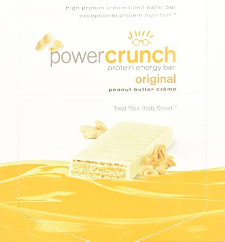 BioNutritional Power Crunch Bars Peanut Butter Creme, 16.8 Ounce 12 Count 480G