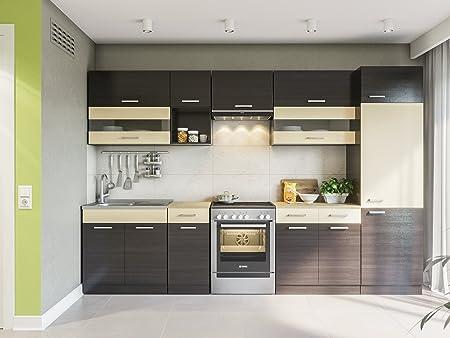 Einbauküche Küchenzeile Küche Küchenblock KOMPLETT-KÜCHEN ...
