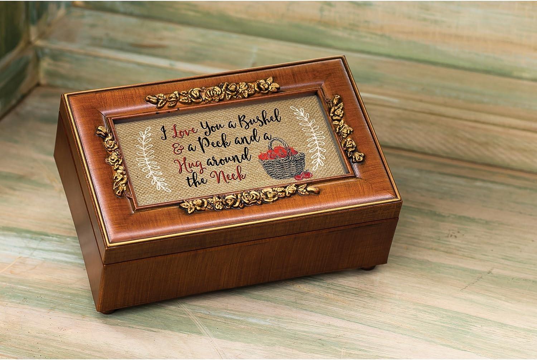You are My Sunshine Love You A Bushel And A Peck Woodgrain Petite Music Box