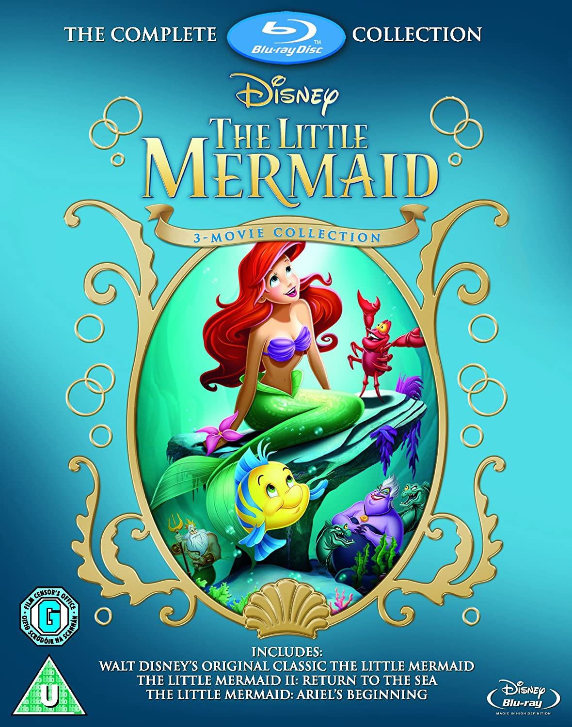 amazoncom the little mermaid complete collection blu ray import jodi benson samuel e wright pat carroll ron clements john musker jim kammeru