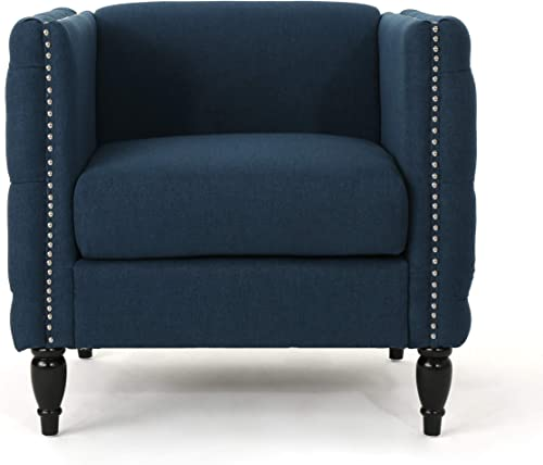 Christopher Knight Home Alira Modern Tufted Fabric Arm Chair