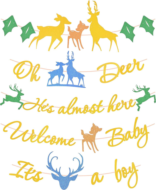Amazon Com Deer Baby Shower Banner Oh Deer He S Almost Here Banner Welcome Baby Banner It S A Boy Deer Baby Shower Banners For Baby Boy Deer Themed Banner For Baby Boy Shower Baby