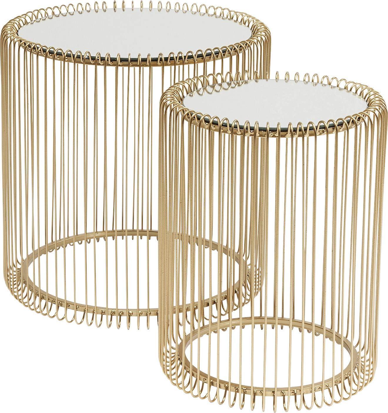 dorado con mesa blanca