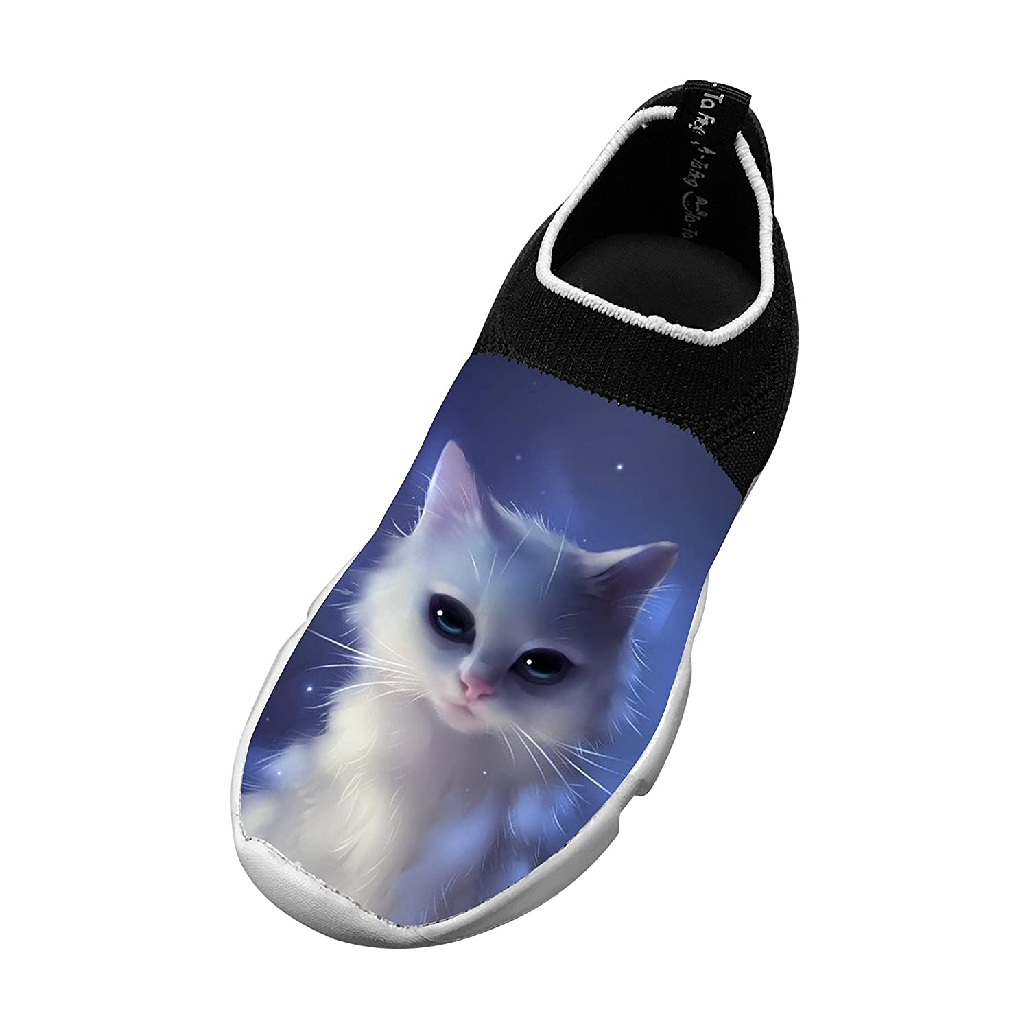 Kids Funny Cat Picture Fly Knit Sneaker Shoes