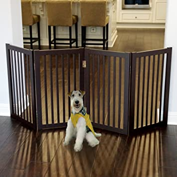 Amazon.com : WELLAND Wood Freestanding Pet Gate Dog Gate (72-Inch ...