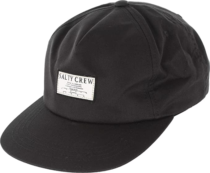 finest selection 40e2a 47837 Salty Crew Mapped Snap back Hat (Black, One Size)