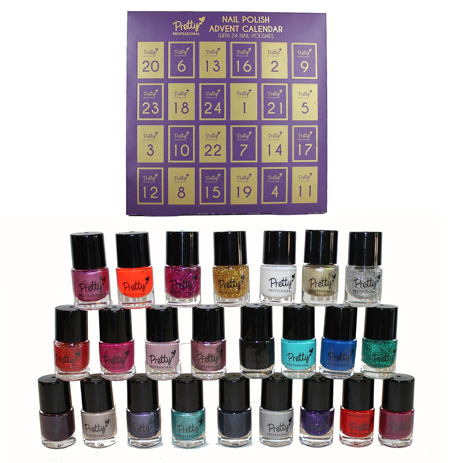 Pretty Professional Make Up Gifts - Christmas Nail Polish Advent ...