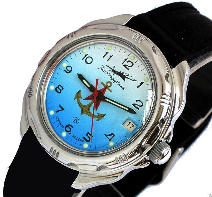 Vostok KOMANDIRSKIE 211084/2414 a Militar ruso de las fuerzas especiales reloj Anchor rojo Star