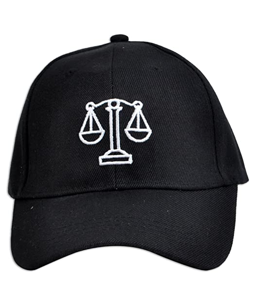 Image Unavailable. Image not available for. Color  Parquet Mens Black Legal  Scales of Justice Lawyer Embroidered Adjustable Baseball Hat 43cf3345c4a5