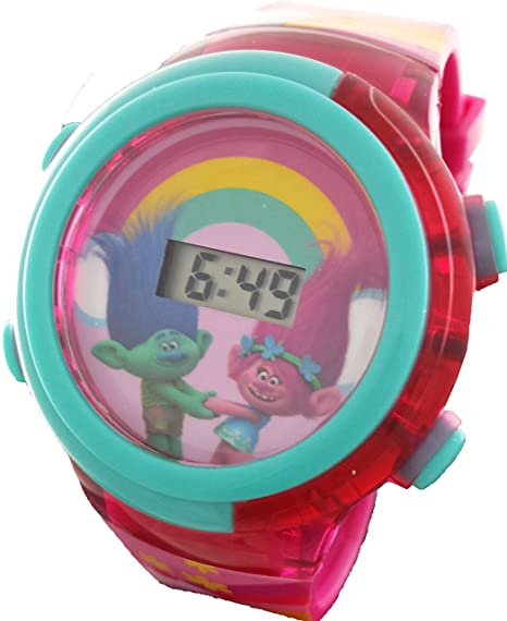 b7ab7f0e99dcd Amazon.com  Trolls Poppy   Branch Girl s Light Up Digital Watch  Watches