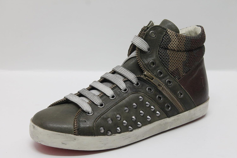 Sneaker baby bill military e testa di moro 34 EU