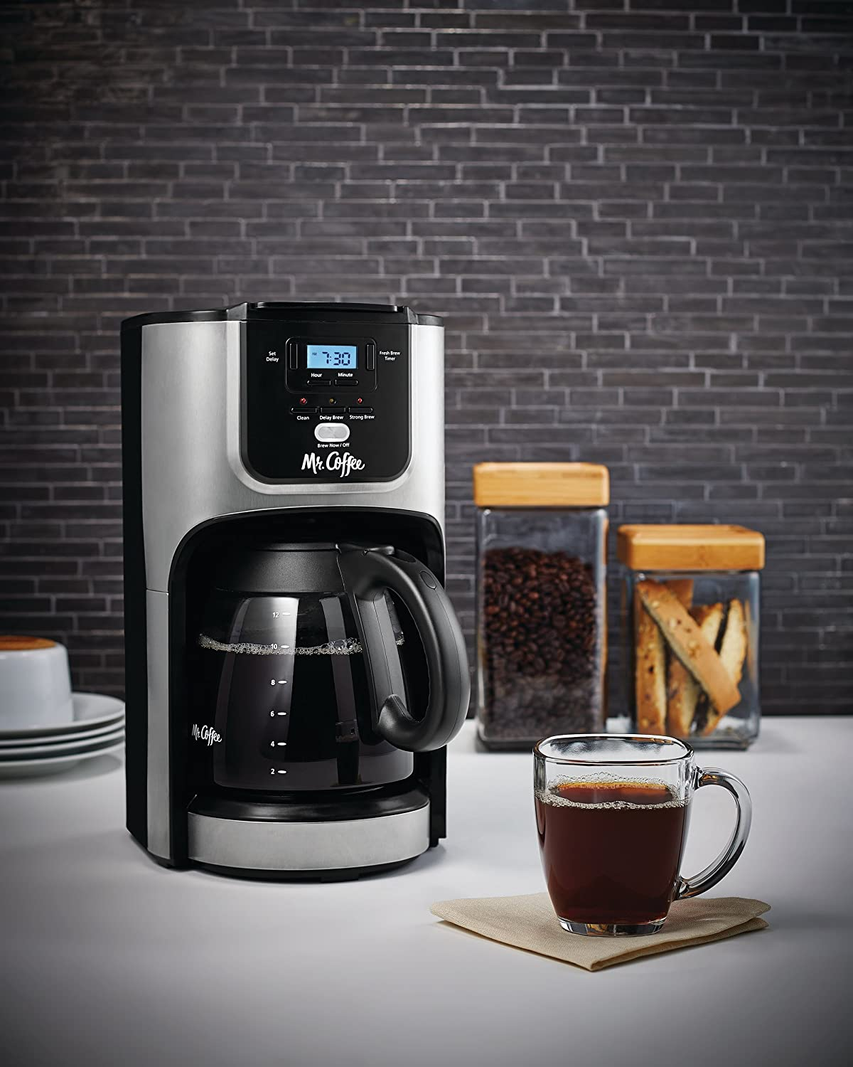 ghdonat.com Mr Coffee 12-Cup Programmable Coffee Maker with Brew ...