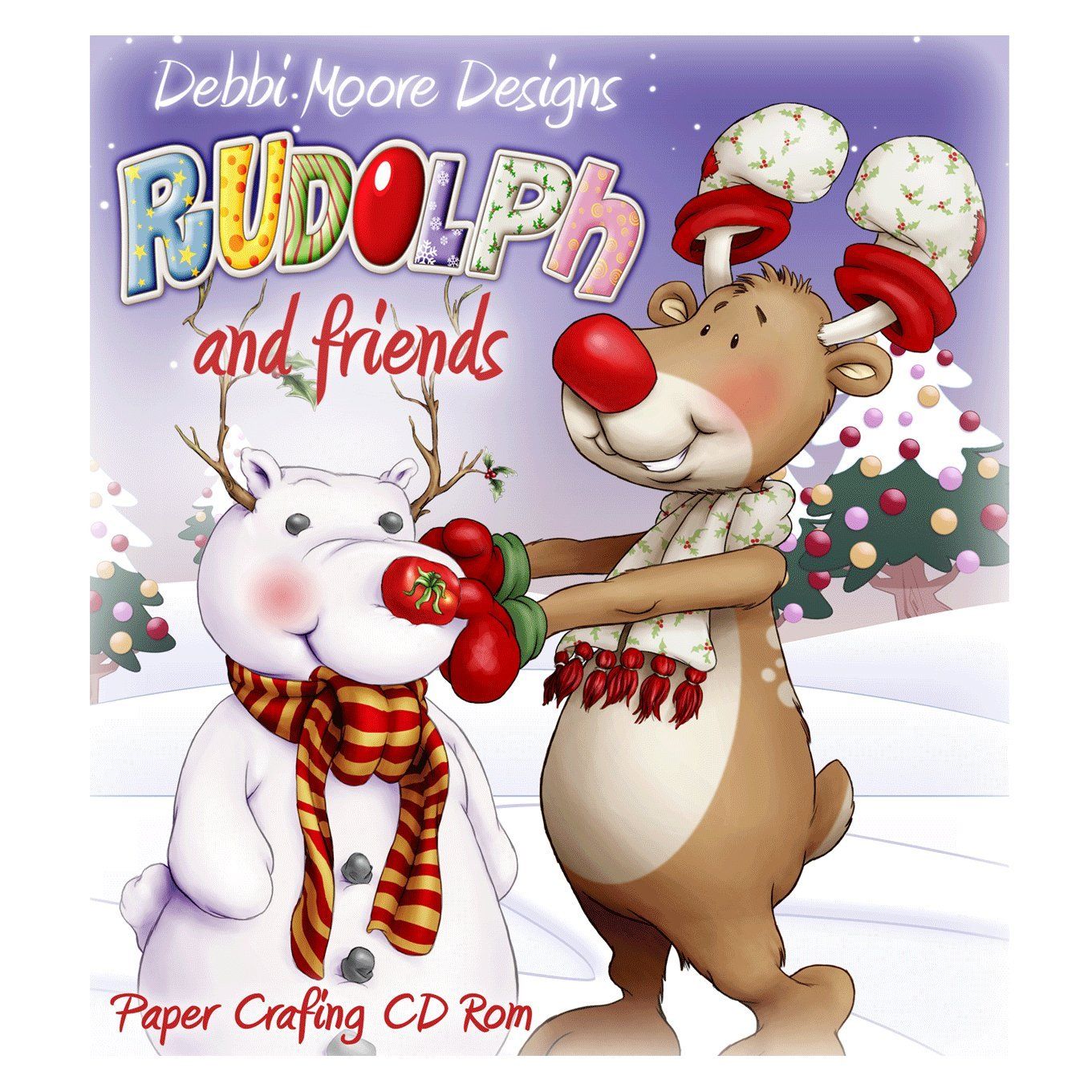 Debbi Moore Designs ~ Rudolph and Friends ~ Christmas Papercrafting CD Rom