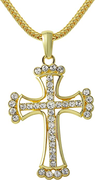 mens gold chain with cross