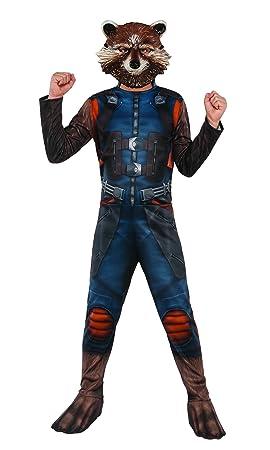 Marvel i-630777s – Disfraz clásico Rocket con couvre-bottes/máscara