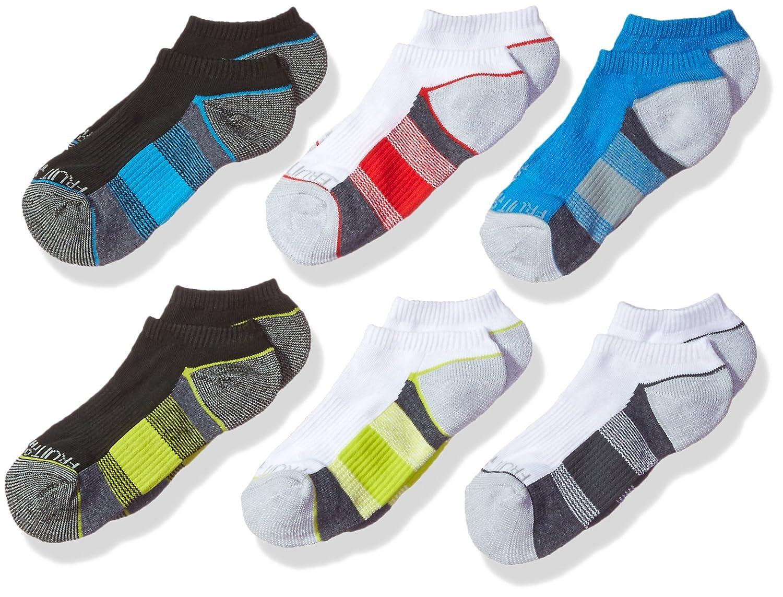 Fruit of the Loom Girls 6 Pack Core Ankle Socks