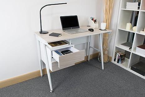 Tavolo Ufficio Fai Da Te : Woltu ts ws scrivania con cassetti libreria tavolo da studio pc