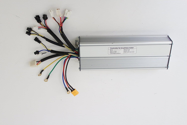 Silver 36V 48V 500W 750W 25A Brushless DC controller ebike