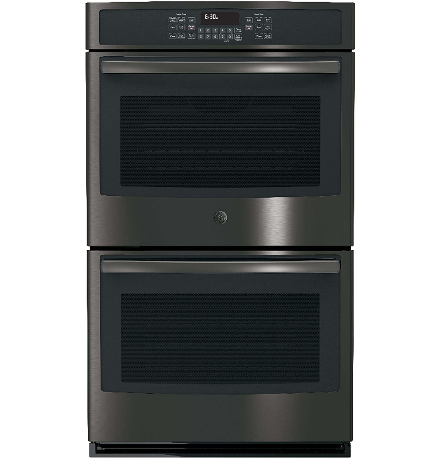 GE JT5500BLTS 30 Inch 10 cu. ft. Total Capacity Electric Double Wall Oven in Black Stainless Steel