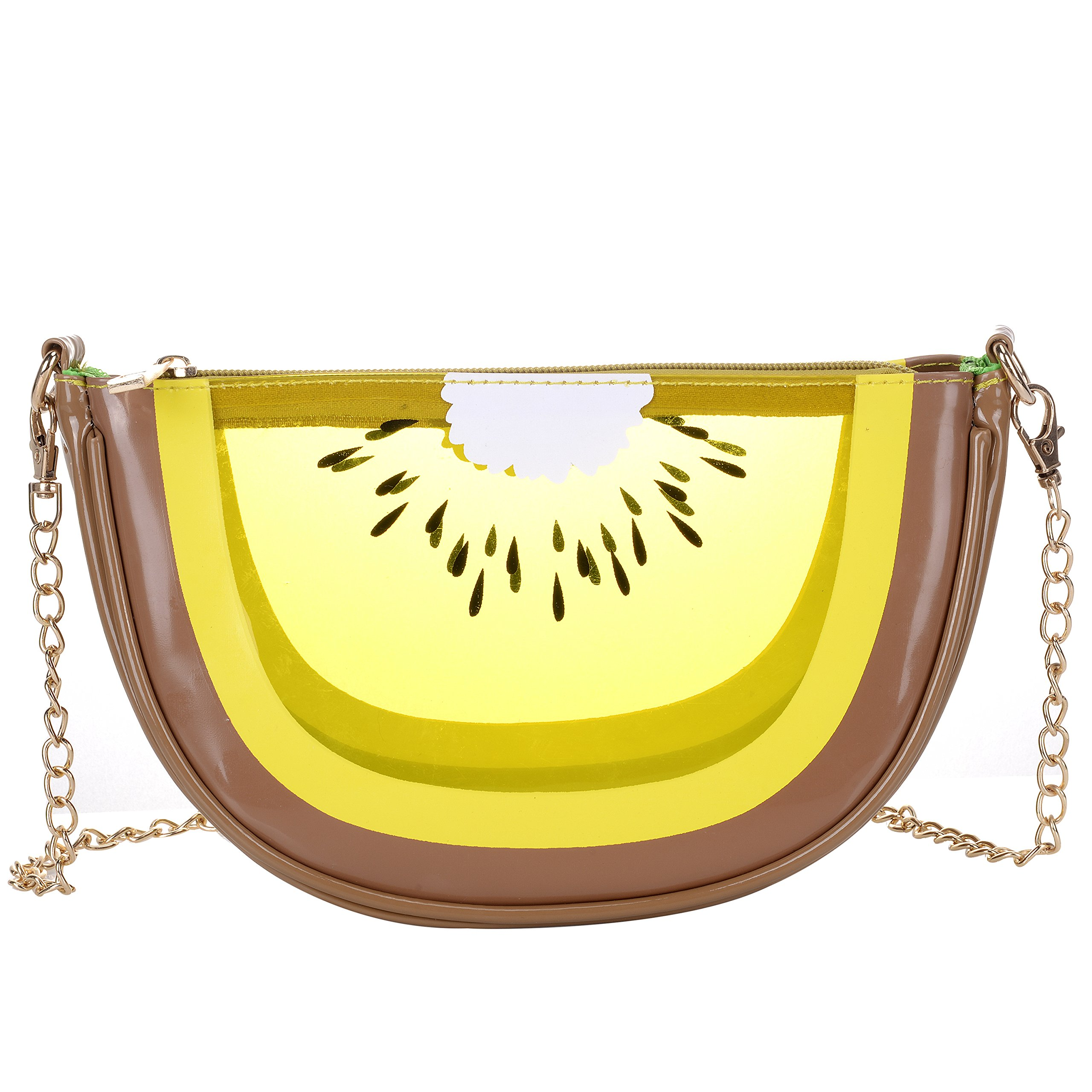 Women's PU & Transparent Medium Cute Fruit Style Handbag Purse Shoulder Bag