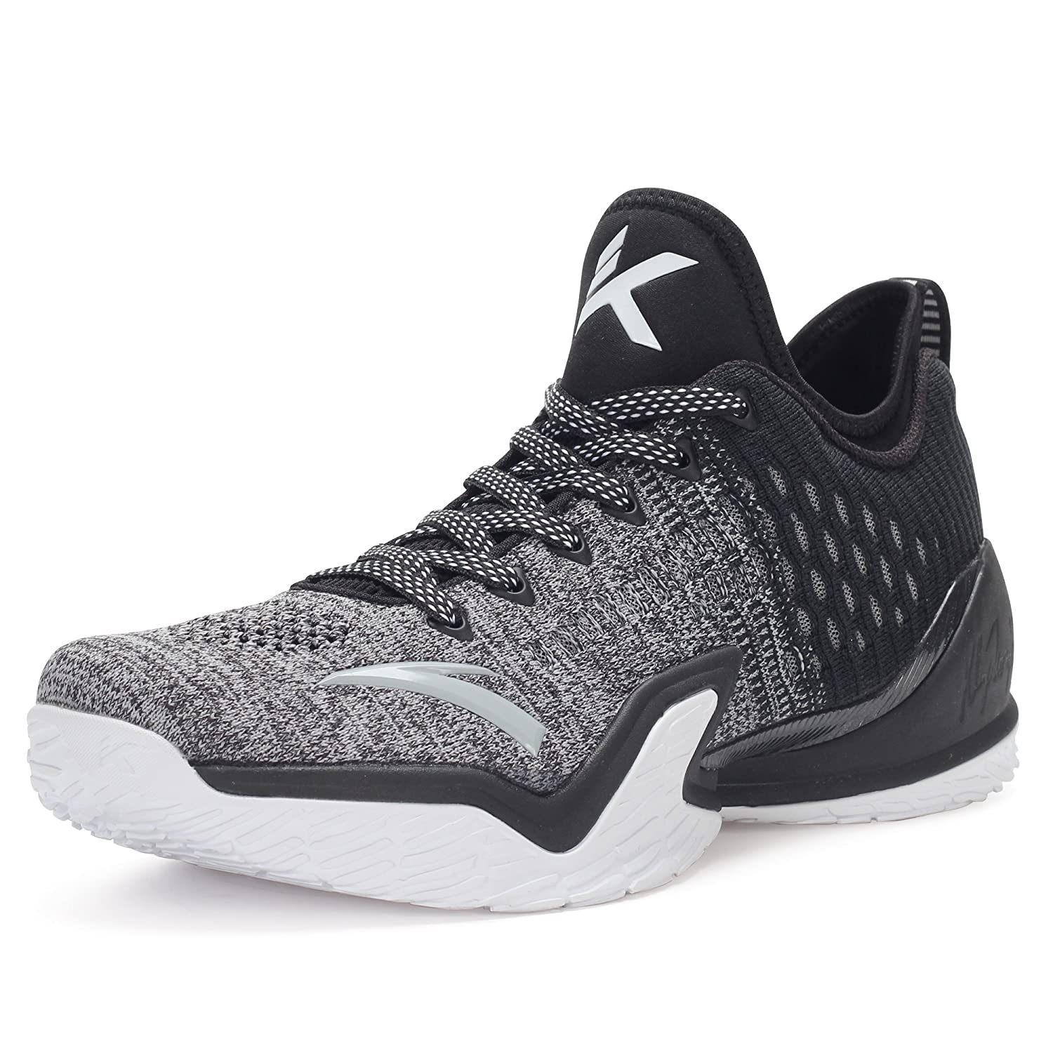 ANTA メンズ KT3 PLAYOFFS B07BJXWZRB 9 D(M) US Fog Gray/Charcoal Gray/White