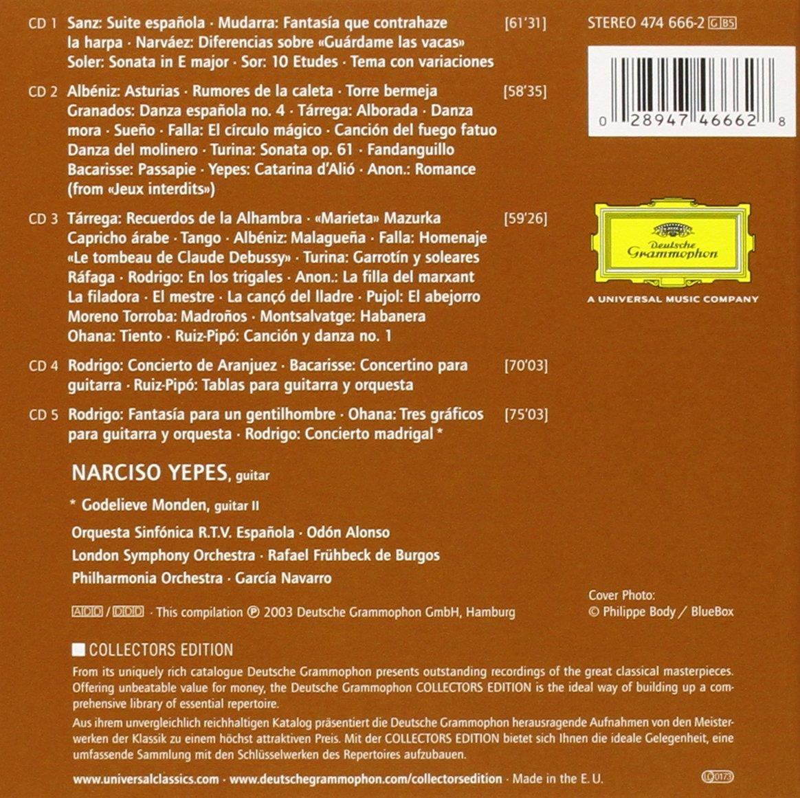 Guitarra Espanola: Narciso Yepes: Amazon.es: Música