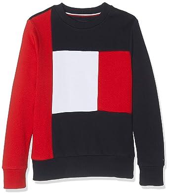 estremamente unico più economico primo sguardo Tommy Hilfiger Colorblock Sweatshirt, Felpa Bambino: Amazon ...