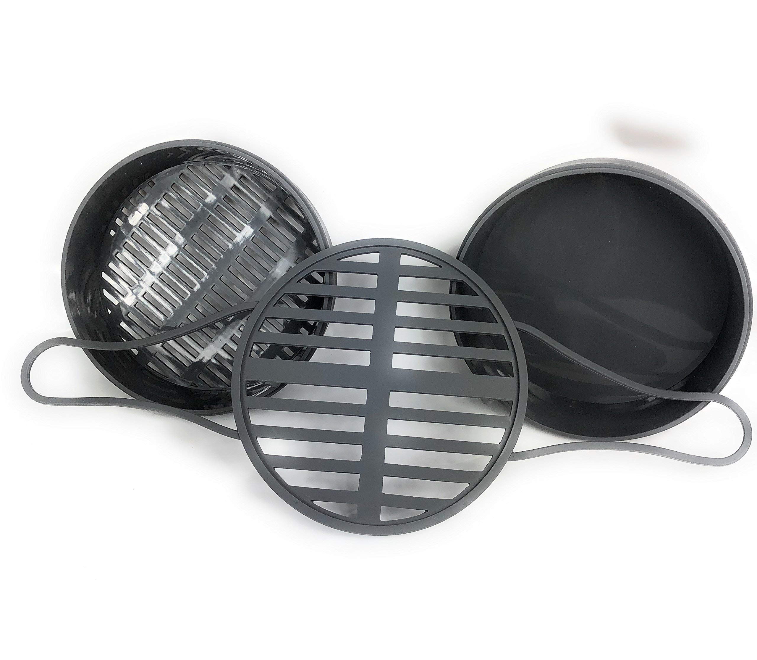 Silicone Steamer Basket Bundle Gift Set For Pressure Cookers and Instant Pot, 3 pieces