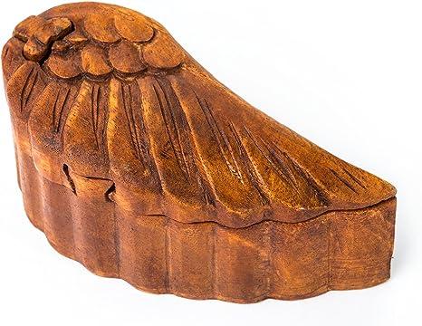 windalf Bo/îte Magique Lazar /Ø 9/cm Bo/îte /à bijoux Celtic main en bois