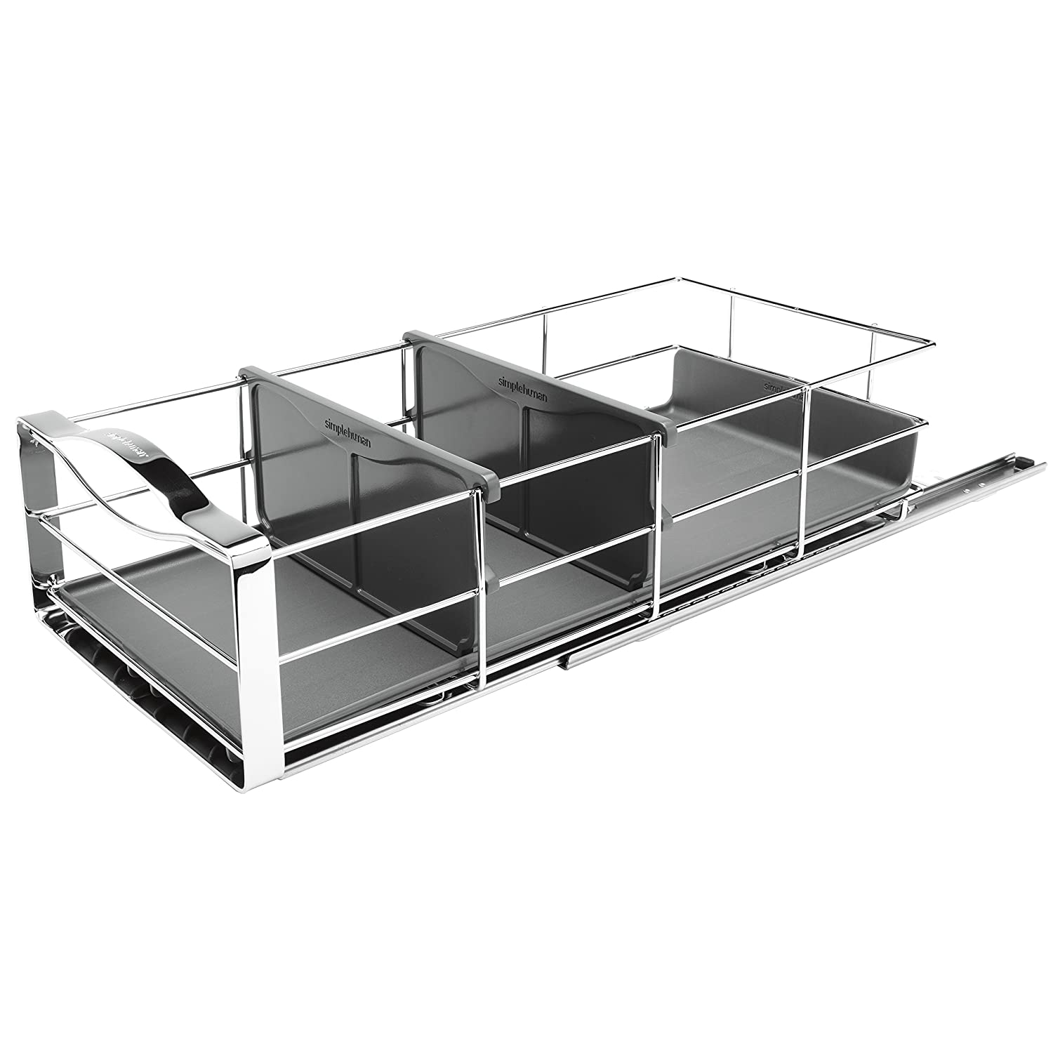 Amazon.com: simplehuman 9 inch Pull-Out Cabinet Organizer, Heavy ...