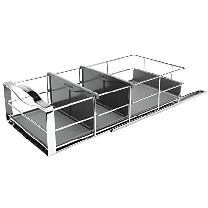 Simplehuman 9 Inch Pull Out Cabinet Organizer, Heavy Gauge Steel Frame