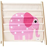 3 Sprouts Book Rack - Elephant, Pink, 1 Count