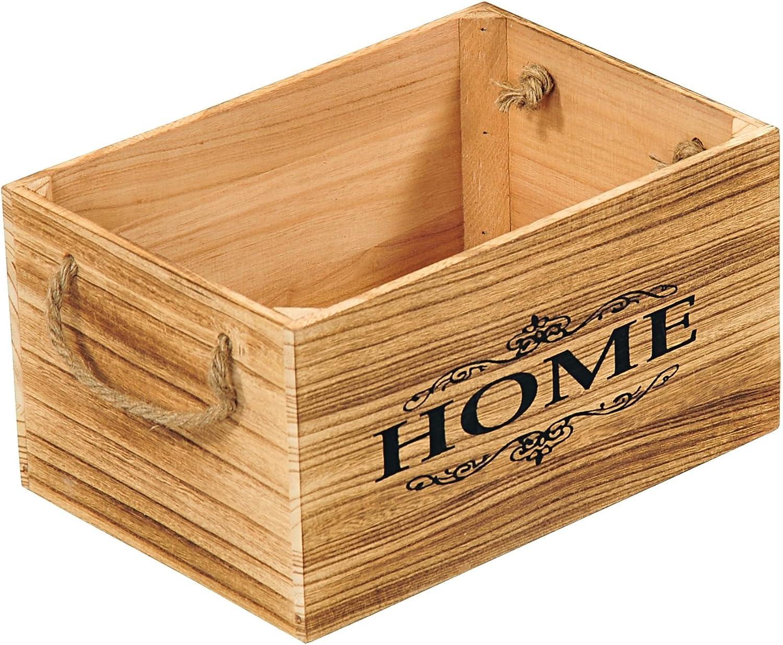 Kesper 69492 Caja de Madera de Paulownia, Madera, marrón, 40 x 30 x 20 cm: Amazon.es: Hogar