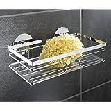 k chenrollenhalter aus edelstahl stabiler halt durch saugn pfe 33cm wand k chenrollen. Black Bedroom Furniture Sets. Home Design Ideas