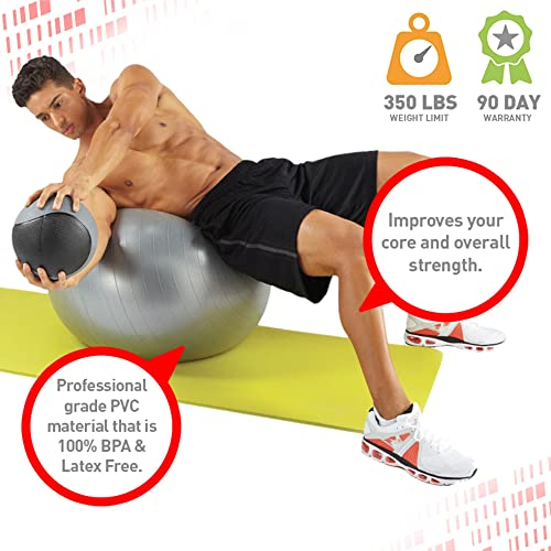 Pure Fitness Anti-Burst Core Exercise Stability Ball