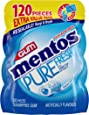 Mentos Pure Fresh Sugar-Free Chewing Gum with Xylitol, Fresh Mint, 120 Piece Bulk Resealable Bag (Pack of 1)