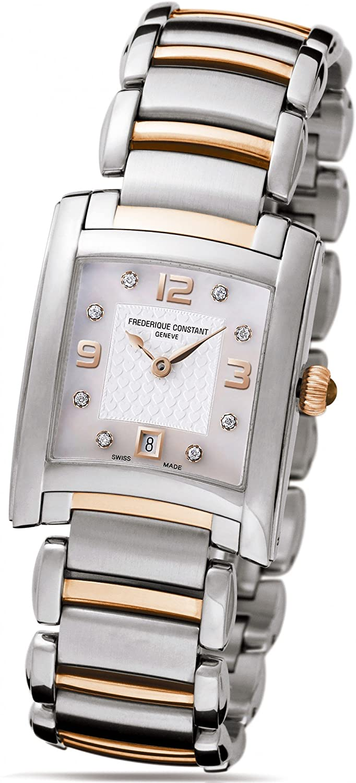 Frederique Constant Geneve Delight FC220WAD2EC2B Elegante Damenuhr mit echten Diamanten