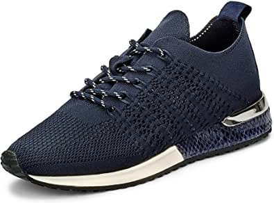 Mujeres Zapatos Planos Navy Blue Knitted Azul, (Navy Blue Knitted) 1802649-4560