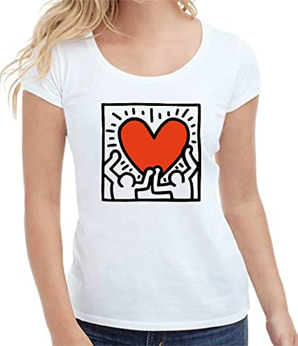 T-shirt donna manica corta in cotone HEART