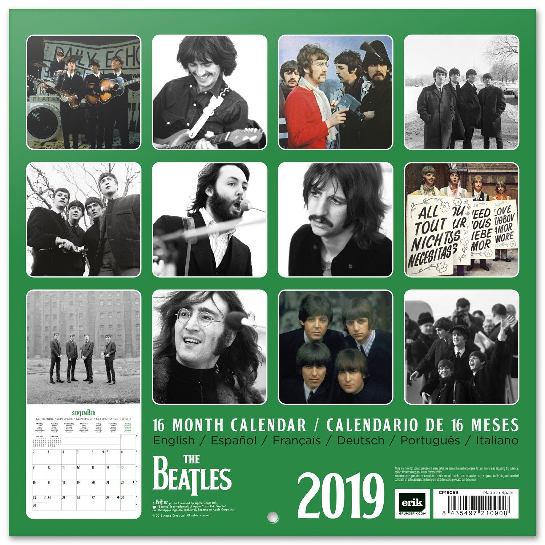 /Calendrier 2019/The Beatles Grupo Erik Editores cp19059/ 30/x 30/cm