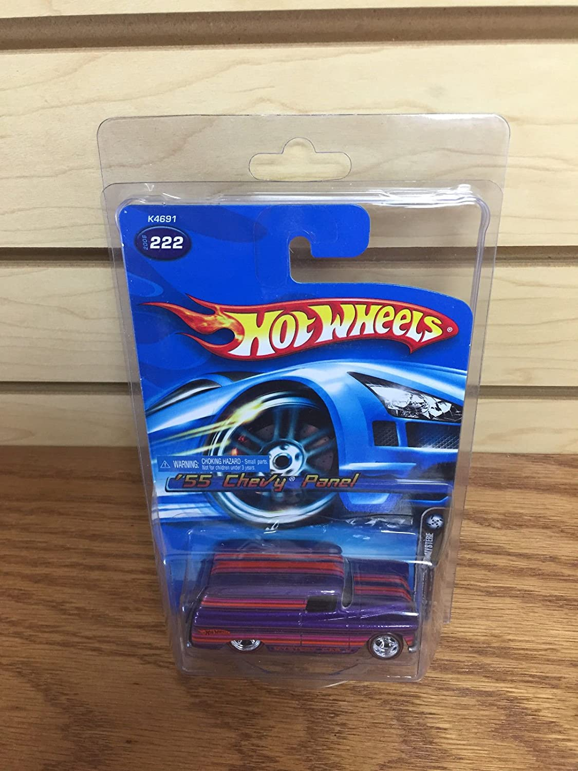 2006 Hot Wheels MYSTERY CAR '55 Chevy Panel Van with protective case!
