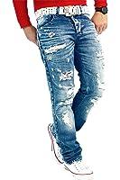 RedBridge Herren Jeans Freizeitjeans Freizeithose Denim Hose Slim Fit Clubwear Streetwear Swag Dope Fitness Jogg Disco Sport