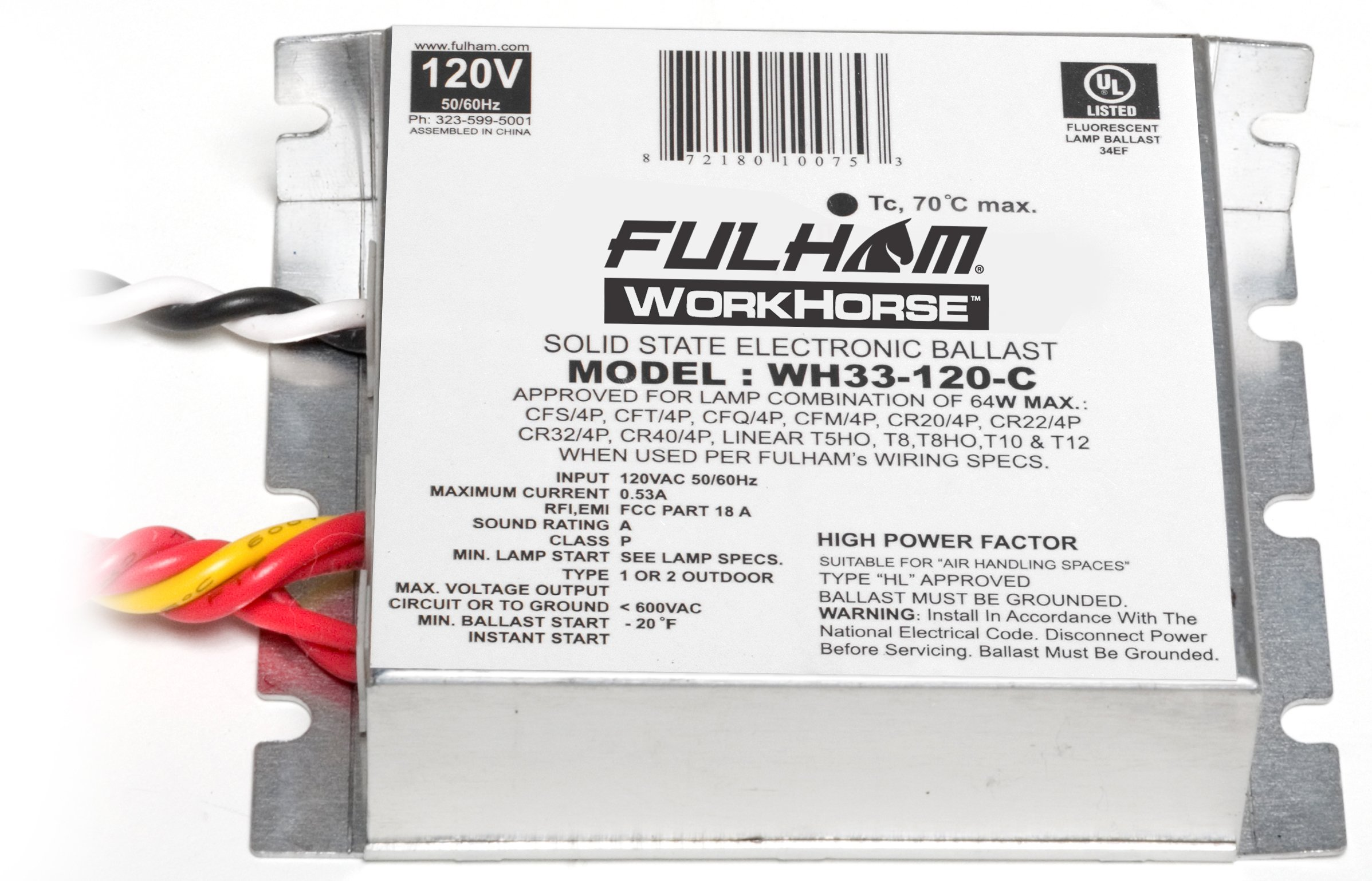 Fulham WH33-120-C Workhorse Adaptable Ballast