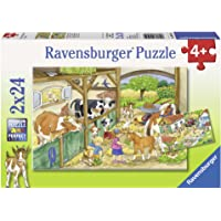 Ravensburger Merry Country Life Puzzle 2x24pc,Children's Puzzles