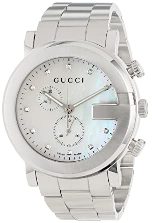 620d45a0699 Gucci G-Chrono Mother-Of-Pearl Diamonds Accented Dress Unisex Watch(Model