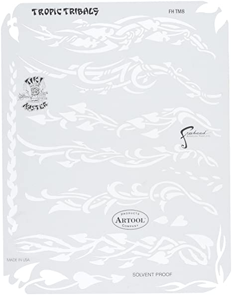 Amazon Com Artool Freehand Airbrush Templates Tikki Master