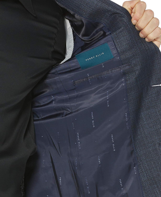 Perry Ellis Mens Slim Fit Solid Textured Jacket