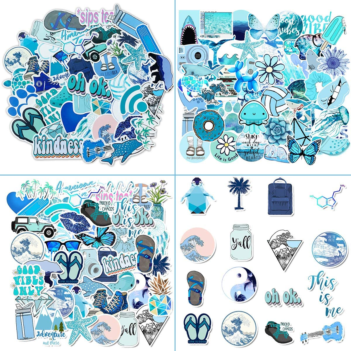 Stickers for Water Bottles 150 pcs Laptop Stickers Waterproof Stickers Pack Cute Aesthetics Stickers for Teens Girls