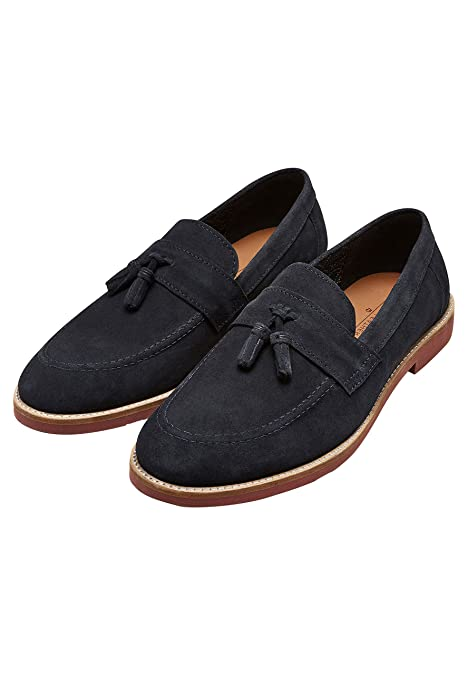 next Hombre Mocasines Ante borlas Azul Marino EU 47: Amazon.es: Zapatos y complementos